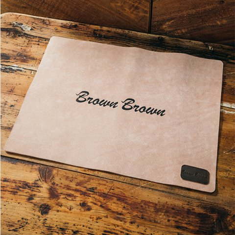 "BrownBrown ""FLOOR MAT"""