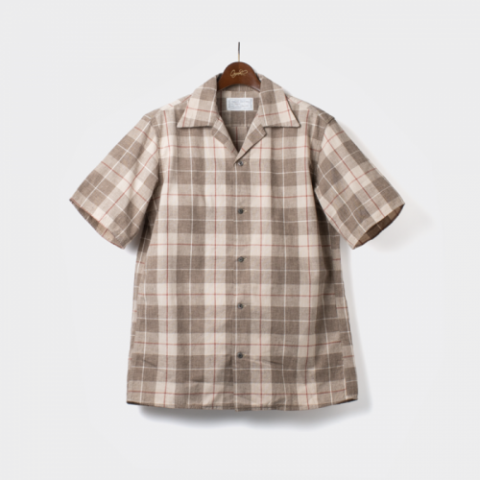 "ORGUEIL ""Open Collared Check Shirt"""