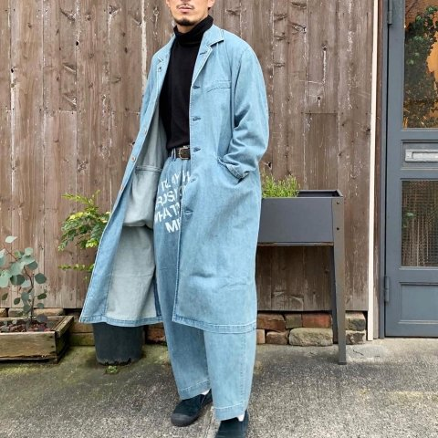 "ANACHRONORM ""BLEACH DENIM ENGINEER COAT"""