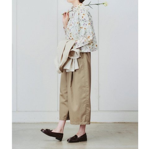 "SETTO ""VOLUME PANTS (BEG)"""
