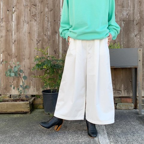 "SETTO ""VOLUME PANTS (WHT)"""