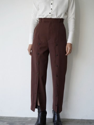 "RUMBLE RED ""Military Button Pants"""