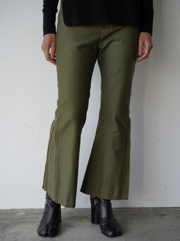 "RUMBLE RED ""Military Flare Pants"""