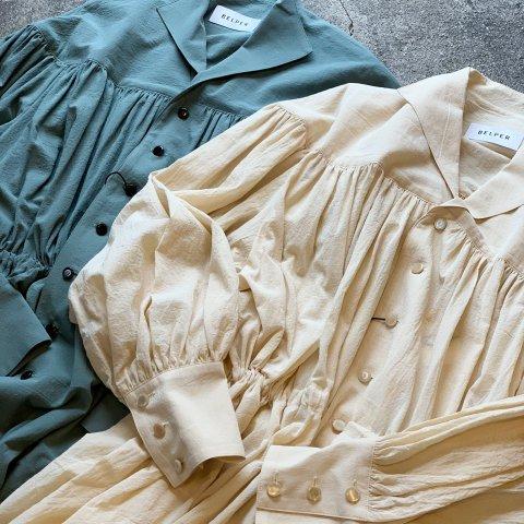 """BELPER """"GATHERED SHIRT DRESS"""""""