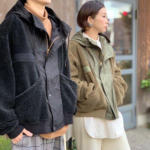 """H.UNIT  """"Backsatin x Boa fleece switching jacket"""""""