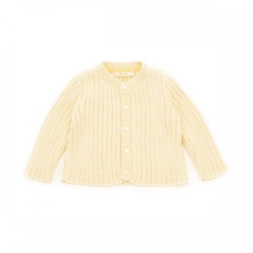 リブ編みカーディガン