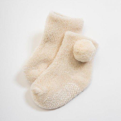 パイル編みくつした(梵天付き)