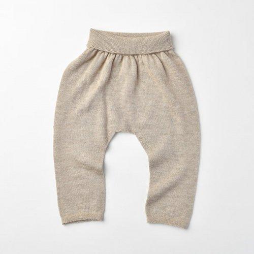 カシミヤ・シルク・ コットン 縫い目のない パンツ (ブラウンカシミヤ)