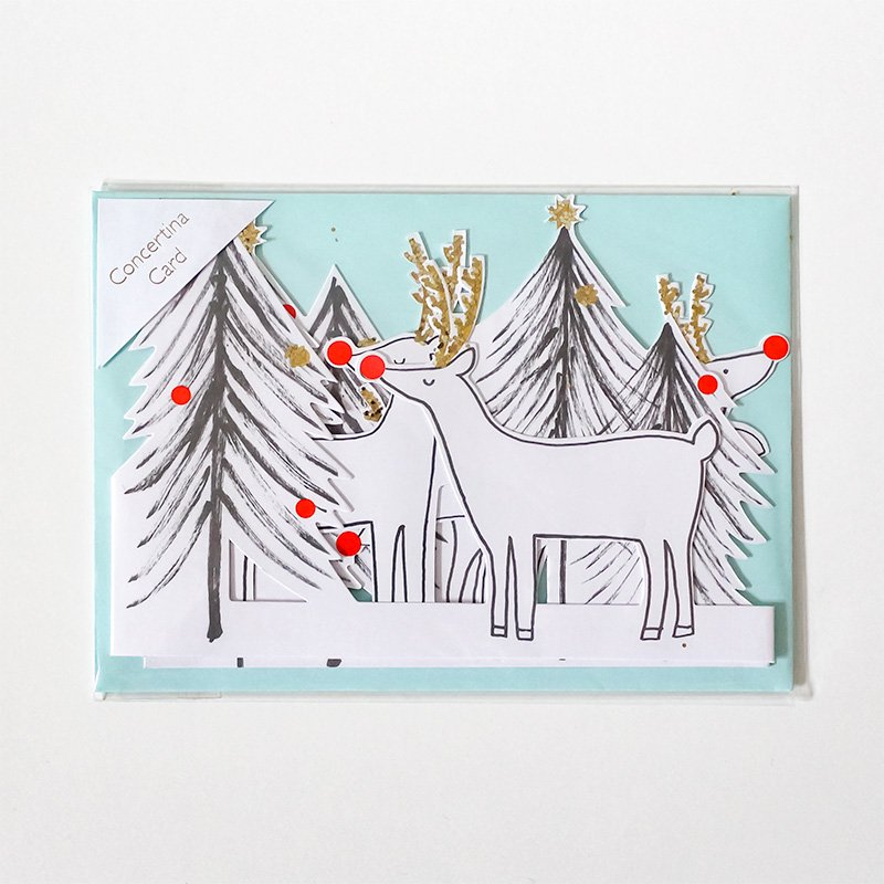 Meri Meri メリメリ クリスマスカード REINDEER & XMAS TREE<img class='new_mark_img2' src='https://img.shop-pro.jp/img/new/icons38.gif' style='border:none;display:inline;margin:0px;padding:0px;width:auto;' />