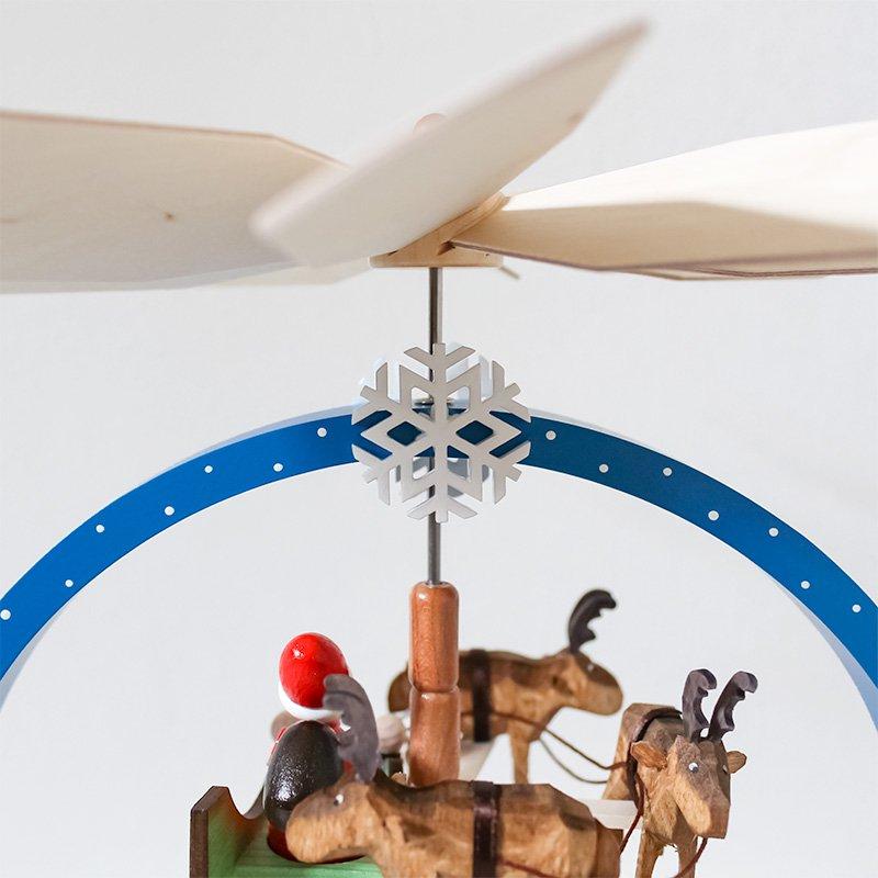 Knuth Neuber クヌース・ノイバー クリスマスピラミッド サンタとソリ カラー