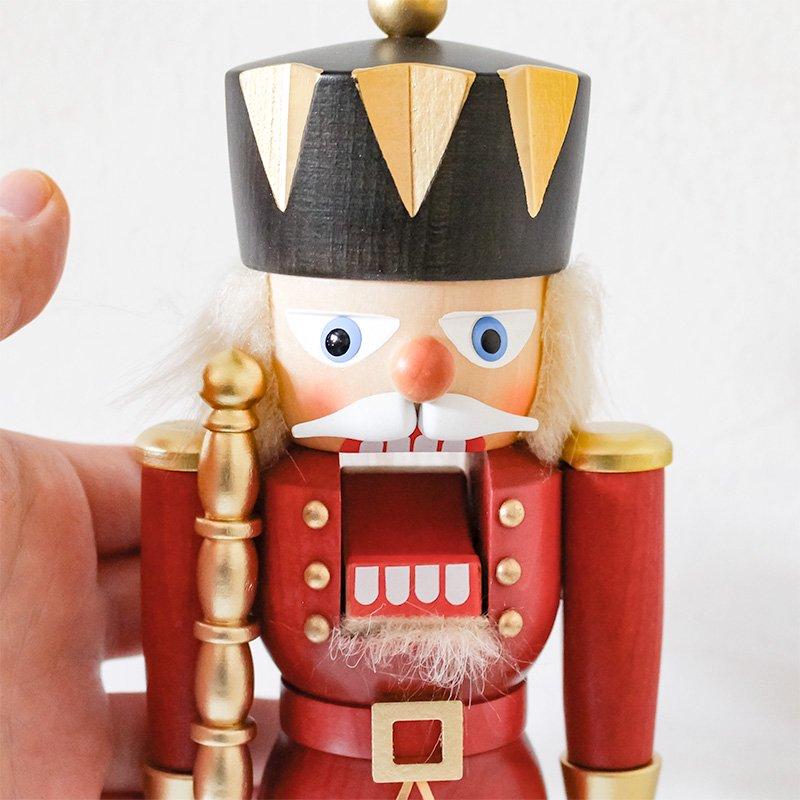 Christian Ulbricht クリスチャン・ウルブリヒト くるみ割り人形 王様 赤 28cm