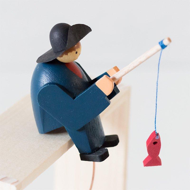 Wolfgang Werner ヴォルフガング・ヴェルナー ミニやじろべえ 魚釣り(台別売り)
