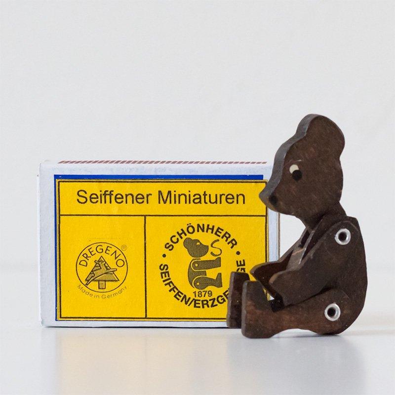 Frieder Schoenherr マッチ箱 動くクマ 茶色