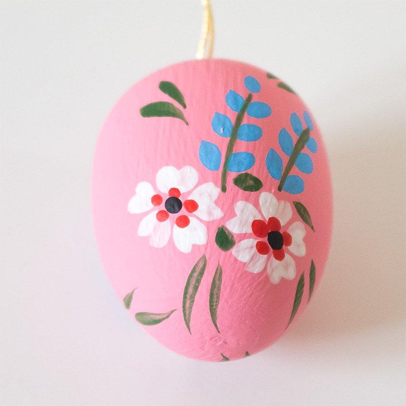 オーナメント イースターエッグ 花柄 4cm
