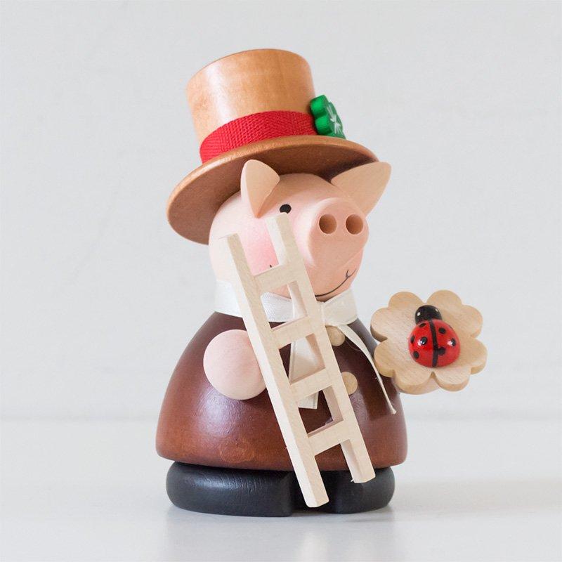 Christian Ulbricht クリスチャン・ウルブリヒト 煙出し人形 幸運のブタの煙突掃除屋さん