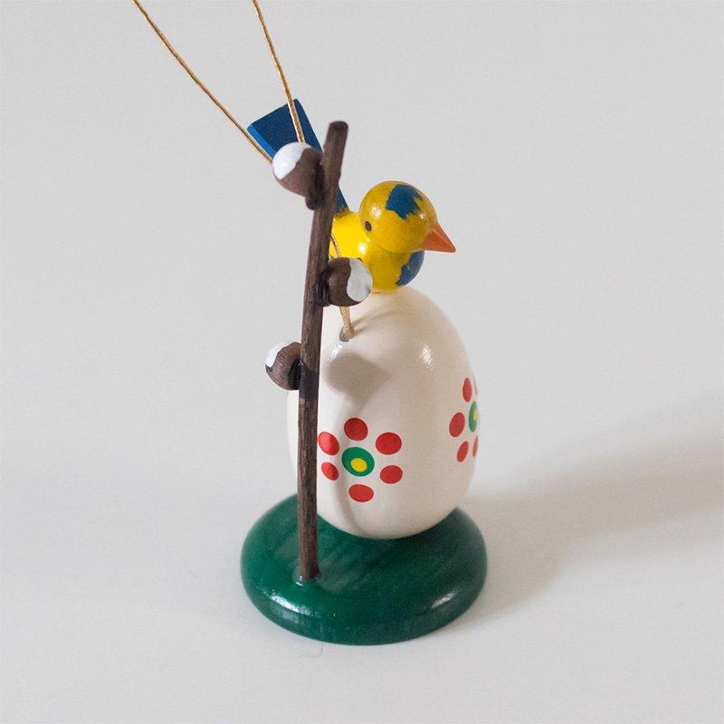 Tobias Heidenreich オーナメント イースターエッグと小鳥 6.5cm