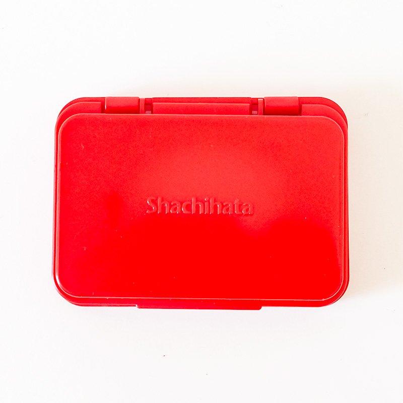 シャチハタ スタンプ台 小形 赤