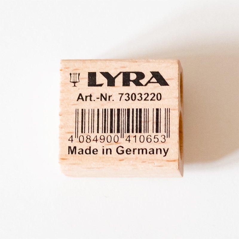 LYRA リラ 木製鉛筆削り ツインホールシャープナー