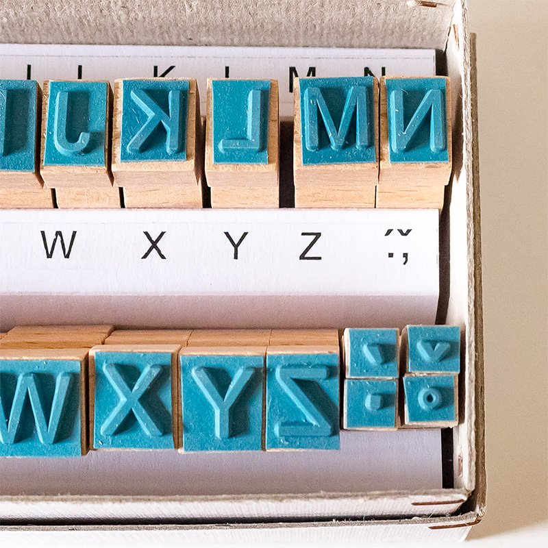 CHARKHA チャルカ チェコのアルファベットスタンプ