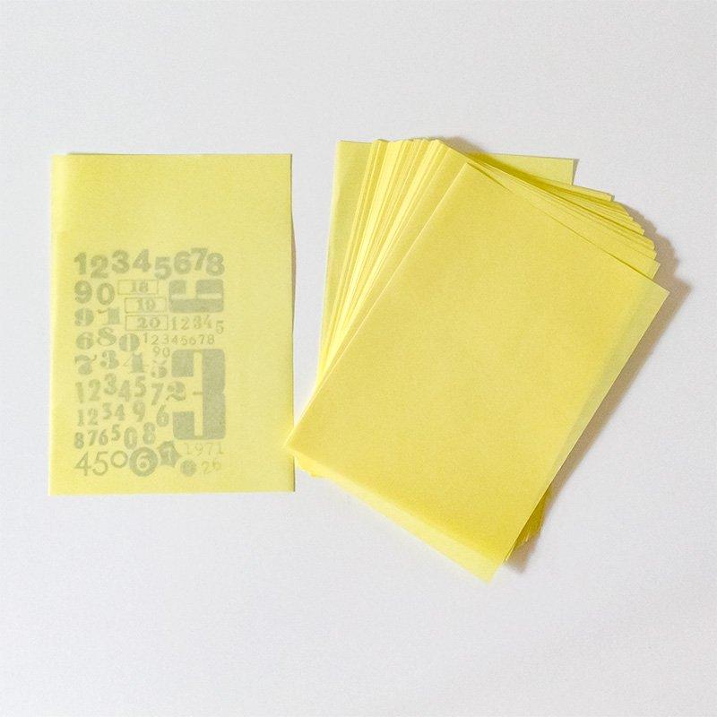 CHARKHA チャルカ 薄紙とフォントのセット 123