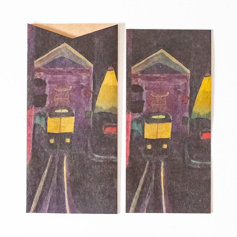 CHARKHA チャルカ CRAFT PAPER LOVE 引き出すカード&封筒 tram