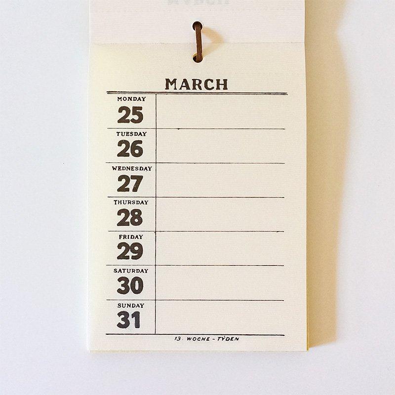 CHARKHA チャルカ 2019年 週めくりカレンダー 壁掛けタイプ