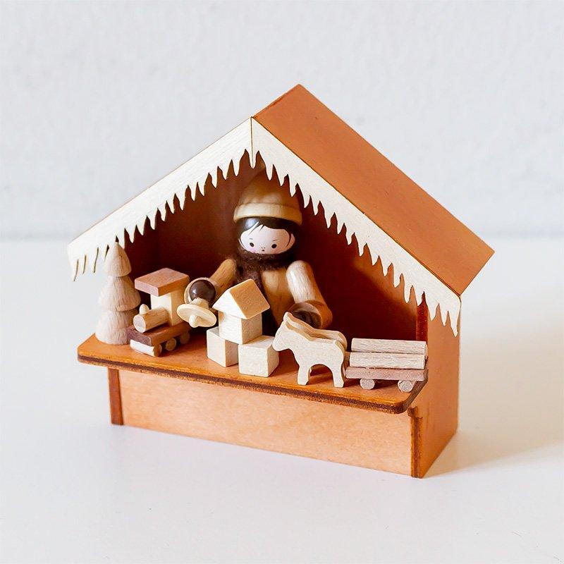 【おワケあり】Romy Thiel ロミー・ティール クリスマスマーケットの屋台 おもちゃ屋さん