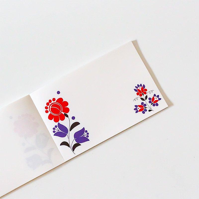 CHARKHA チャルカ 刺しゅうの一筆せん カロチャの花