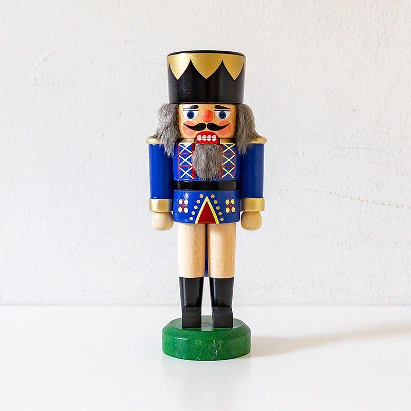 HoDreWa Legler レグラー くるみ割り人形 王様 青×ナチュラル 17cm
