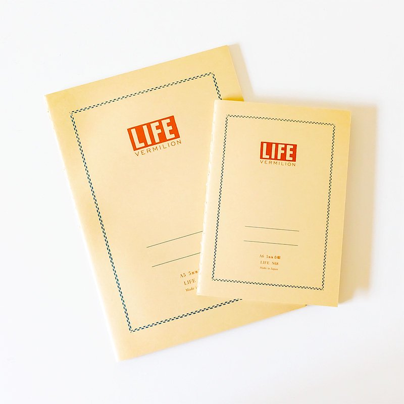 LIFE ライフ バーミリオンノート A6 方眼<img class='new_mark_img2' src='https://img.shop-pro.jp/img/new/icons5.gif' style='border:none;display:inline;margin:0px;padding:0px;width:auto;' />