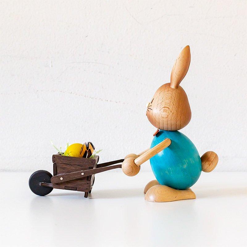 Drechslerei Kuhnert クナート 手押し車とウサギ