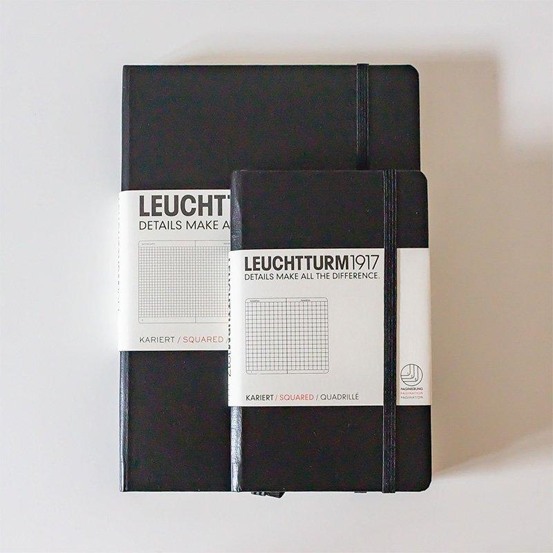 LEUCHTTURM1917 ロイヒトトゥルム1917 ノート ミディアム A5 ブラック