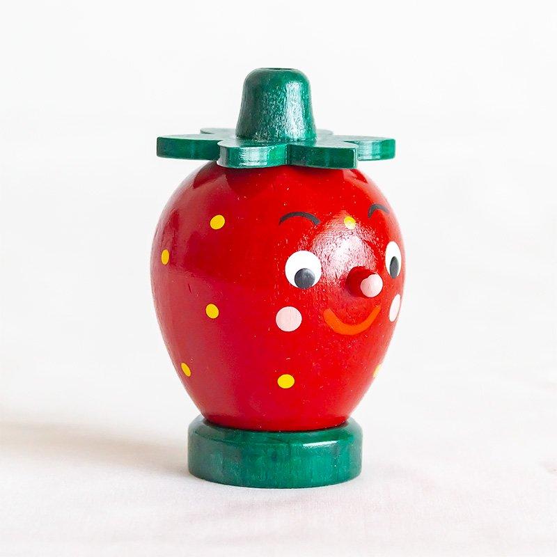 イチゴのミニ煙出し人形