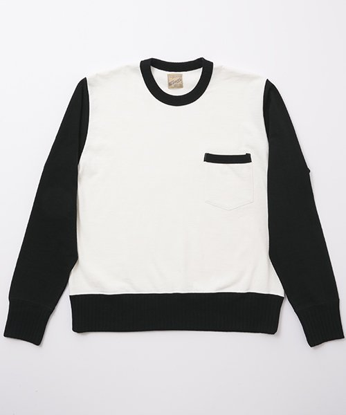 RAGTIME DROP NEEDLE RIB PANEL PKT L/S TEE