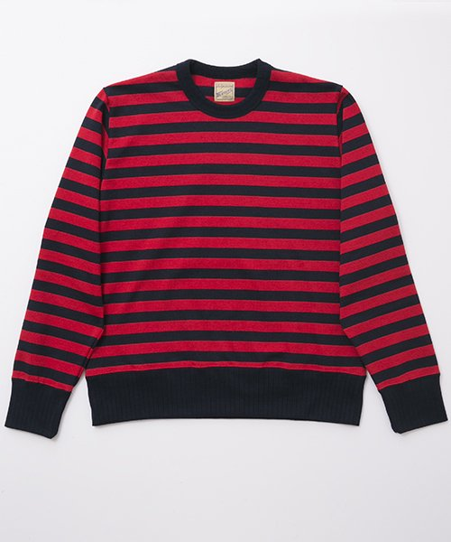 RAGTIME DROP NEEDLE RIB STRIPE L/S T