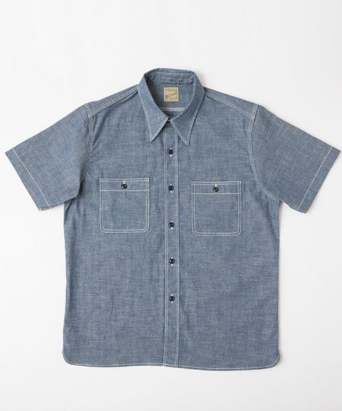 RAGTIME TRIPLE STITCH CHAMBRAY S/S SHIRTS