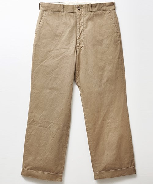 RAGTIME CHINO CLOTH TROUSERS(AGED)