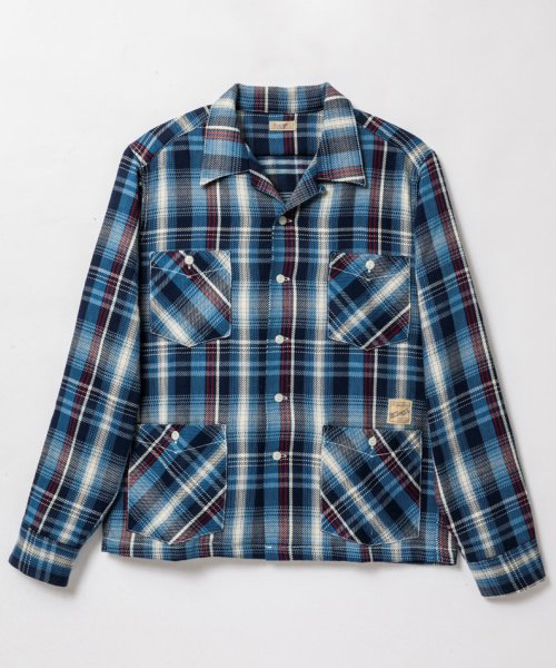 RAGTIME INDIGO FLANNEL HOLLYWOOD LEISURE SHIRTS