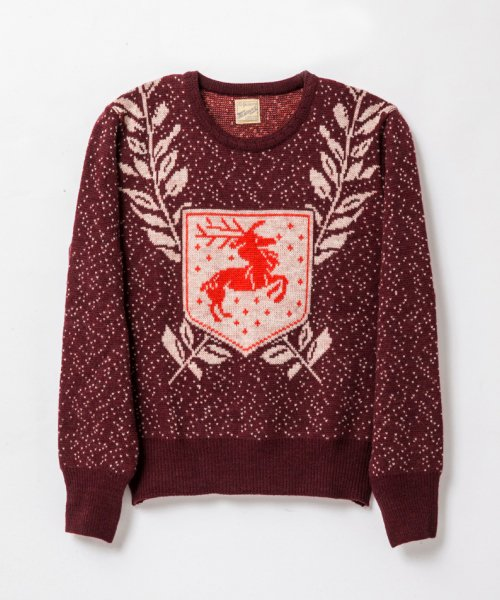RAGTIME DEER EMBLEM SWEATER