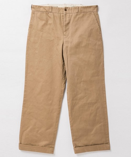 RAGTIME CHINO CLOTH TROUSERS with CINCH BACK