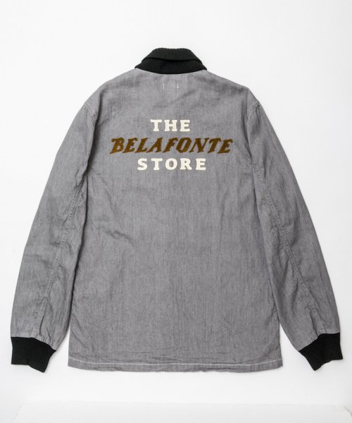 RAGTIME COLOR DENIM CLUB JACKET with THE BELAFONTE STORE CHAIN EMBROIDER