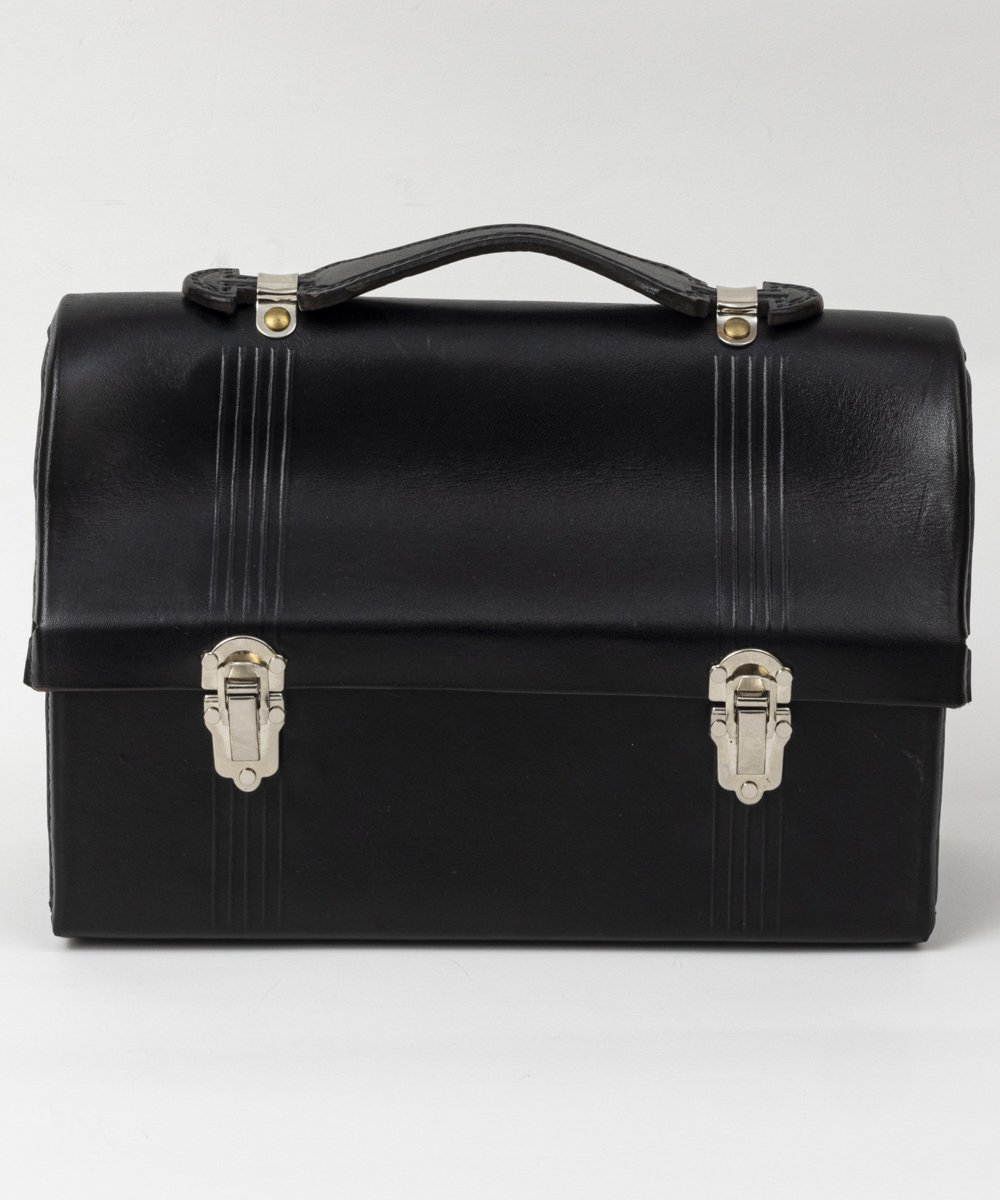 RAGTIME LEATHER LUNCH BOX ※BODYSTYLE:EMBOSS LINE HANDLE:STITCHING