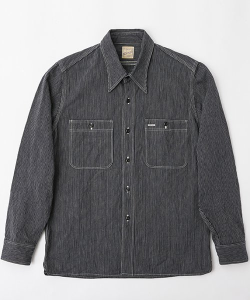 RAGTIME STRIPE DENIM TRIPLE STITCH SHIRTS