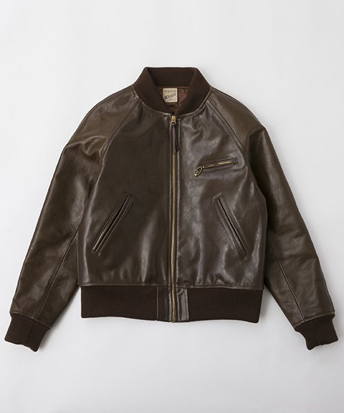 RAGTIME SLASH POCKET LEATHER VERSITY JACKET