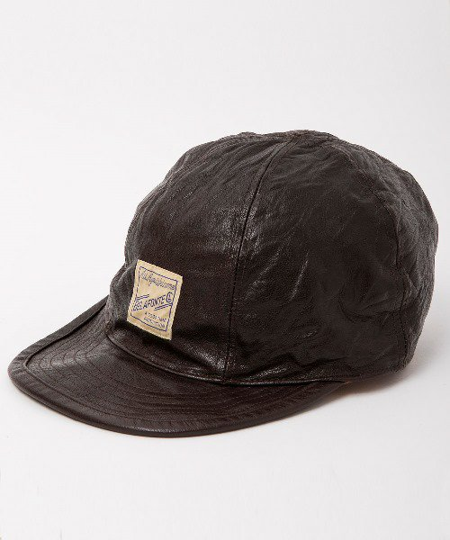 RAGTIME LEATHER CHOPPER CAP