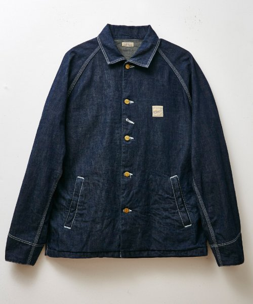 RAGTIME DENIM OVERALLS JACKET(THE BELAFONTE STORE CHAIN EMB)