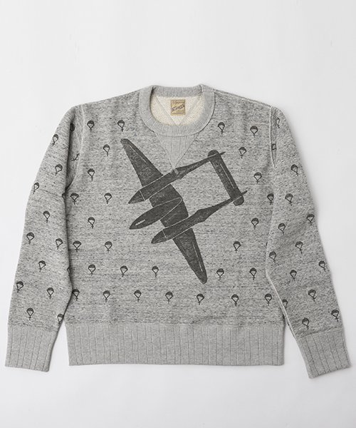 RAGTIME BOMBER AND PARACHUTE PRINT SWEAT