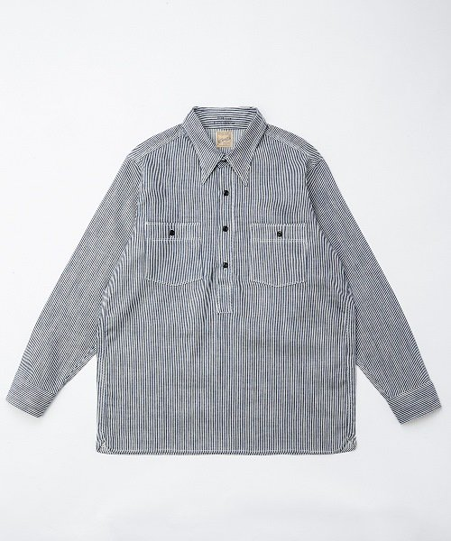 RAGTIME PULLOVER HICKORY STRIPE SHIRTS