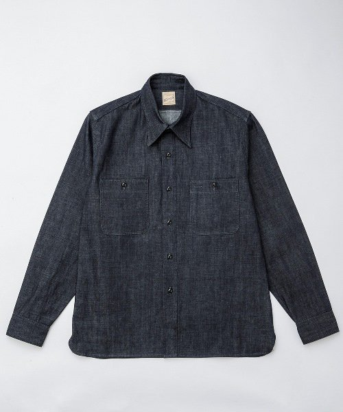 RAGTIME GRAY TRIPLE STITCH DENIM L/S SHIRTS