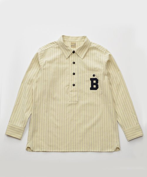 RAGTIME STRIPE BASEBALL PULLOVER L/S SHIRTS